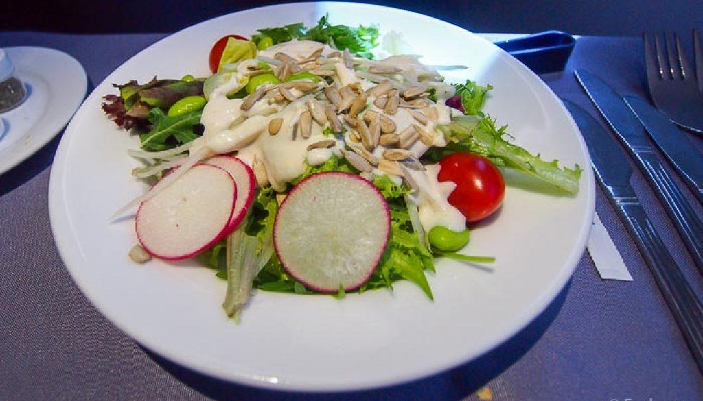 United UA2 SIN SFO: Caesar Salad